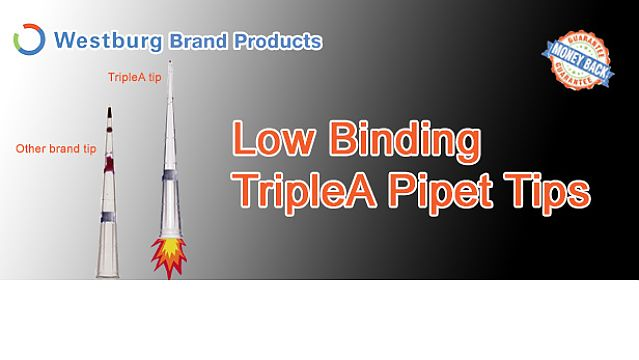 Low binding pipet tips